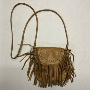Lucky Brand leather fringe shoulder bag